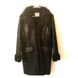 Jackets & Blazers - Vintage vegan Mongolian lamb penny lane coat